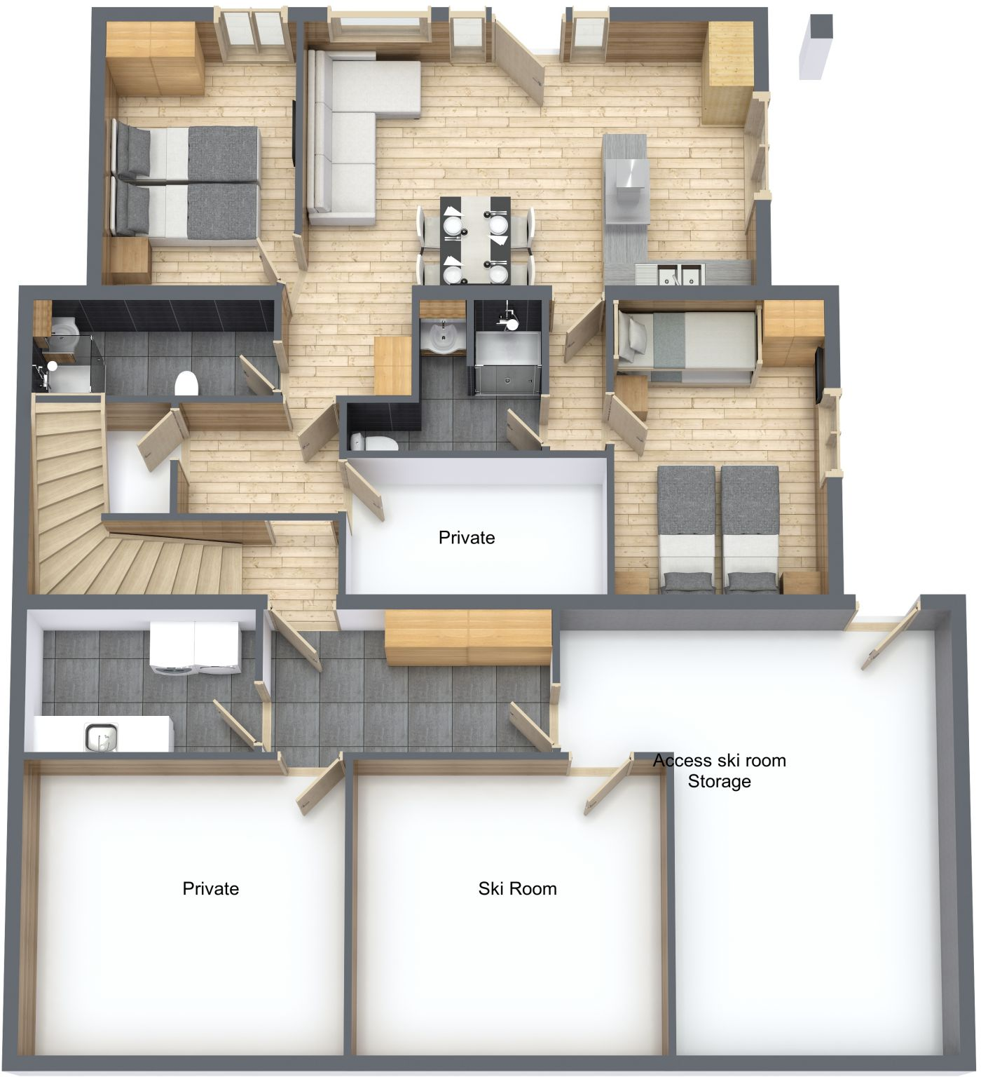 Floorplan of Chalet La Rocade Ground FLoor