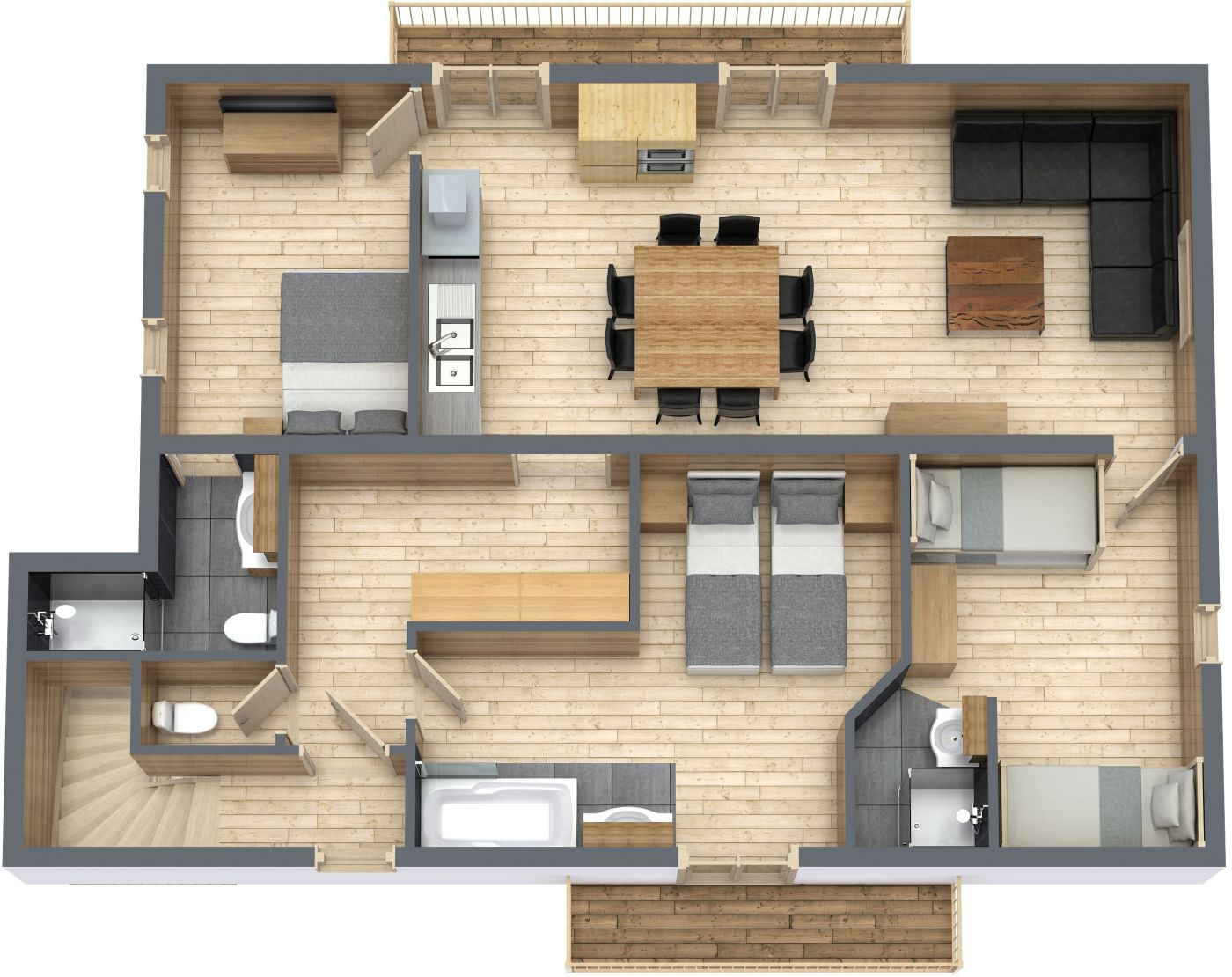 Floorplan of Chalet La Rocade Top FLoor